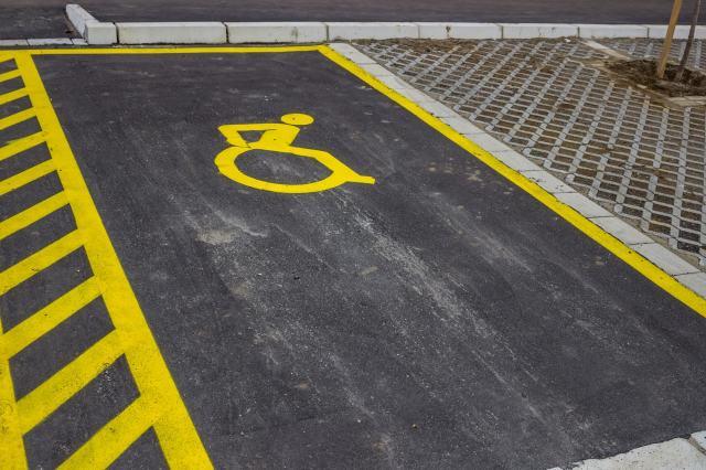 ADA Compliant Parking Space Markings