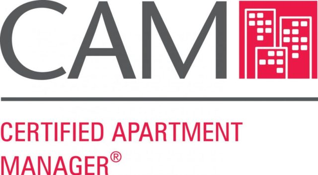 Certified Apartment Manager Logo For Property Management Credentials