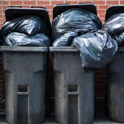 trash cans with trash for valet trash service property manager insider