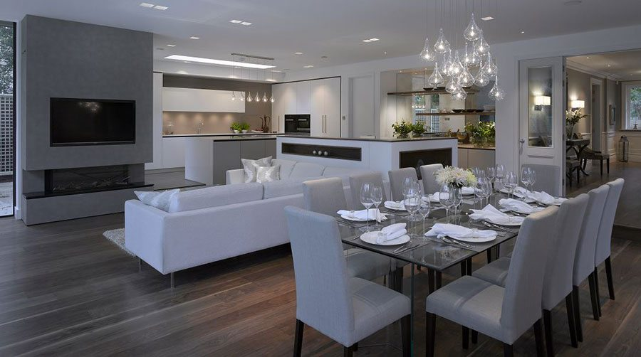How To Zone An Open-plan Kitchen-living Space