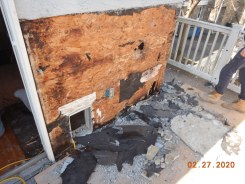 Exterior Wall Fire Damage