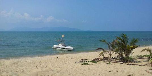 Maenam beach front land 9 Rai for sale on Koh Samui