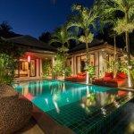 Swimming pool at Villa Samprasada, a 2 bedroom luxury villa located in the hills of Bophut, Koh Samui, Thailand