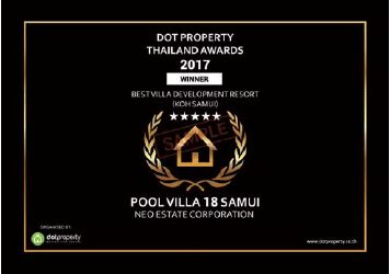 Neo Estate Pool Villa 18 Samui Awards