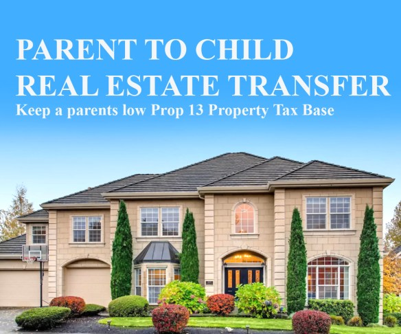 Parent to child real estate transfer