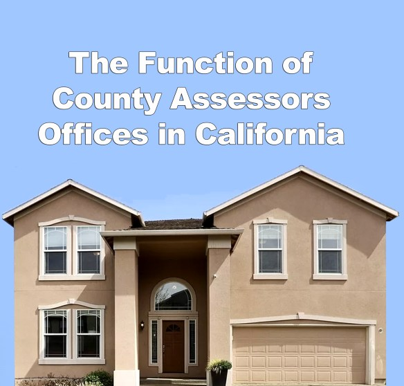 The Role of the County Assessors Office