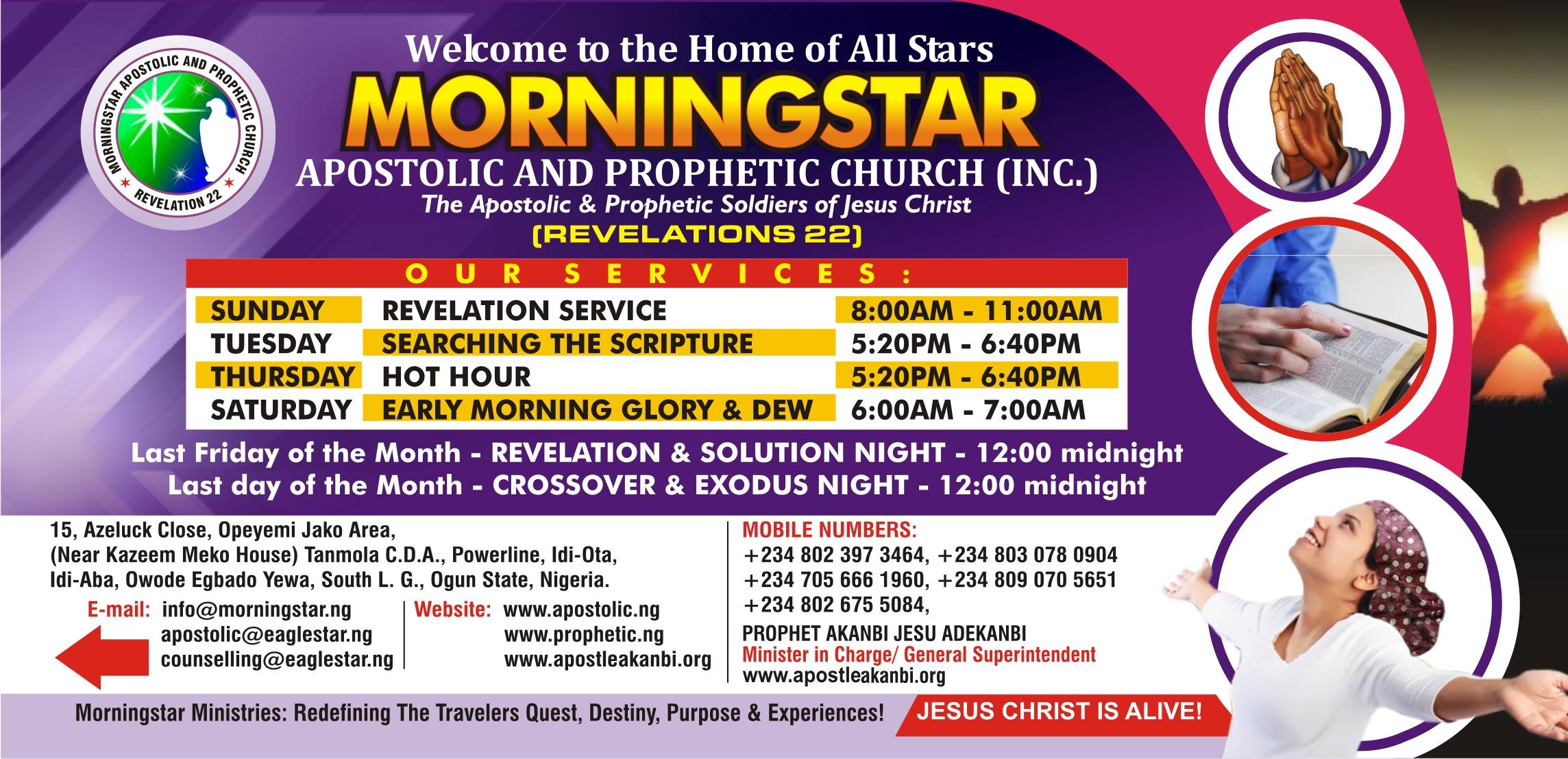 The Apostolic Amp Prophetic Destiny Solution Ministries The