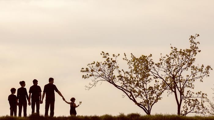 Niños y retrato de familia