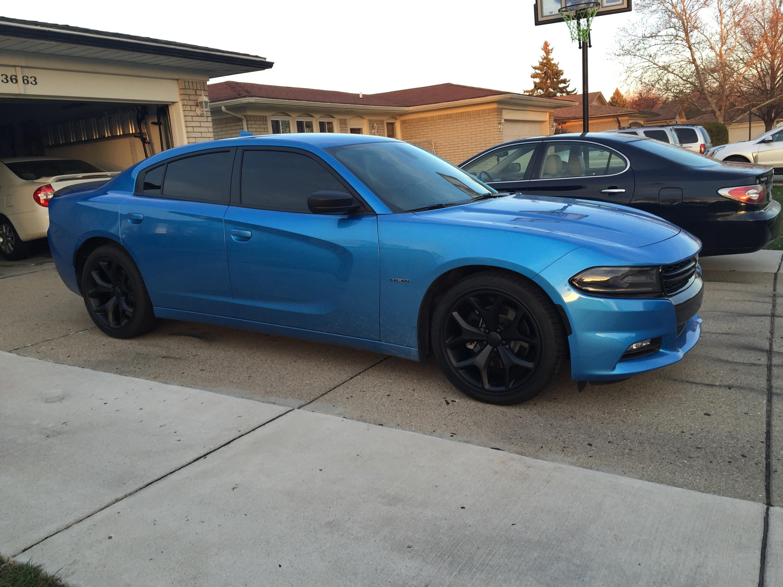 2015 dodge charger tt b 5 blue rims