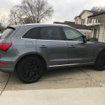 2016 Audi Q5 Rims And Emblems Matte Black Proplastidip