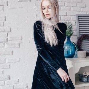 Бархатное платье Eva 80014