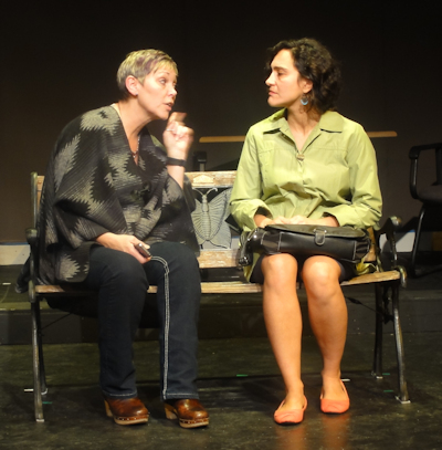 "Terry Lynn Boyle and Larissa Coser in ""Run in Fields"""