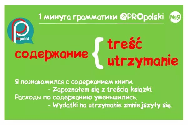 Одна минута грамматики ProPolski 9: содержание