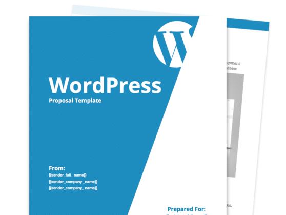 Wordpress Proposal Template Proposable