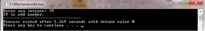 even odd number C++