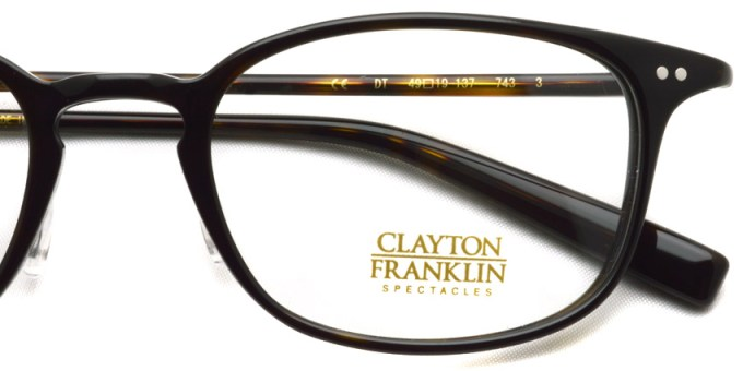 CLAYTON FRANKLIN / 743 /  DT  / ¥29,000 + tax