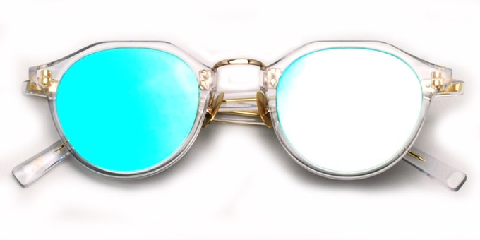 A.D.S.R. / SATCHMO03 / Clear - GoldMetal - LtBlue MIrror /  ¥19,000 + tax