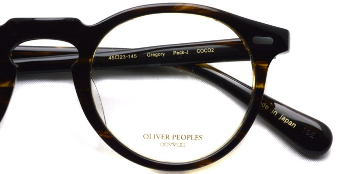 OLIVER PEOPLES / GREGORY PECK -J / COCO2 / ¥30,000 + tax