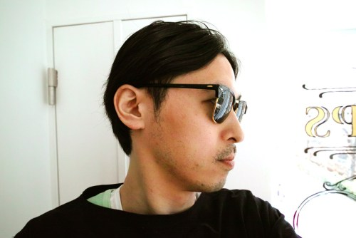 "wearing RayBan RB3016 ""CLUBMASTER"" 51size W0365"