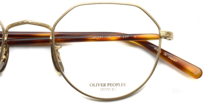 OLIVER PEOPLES / OP-43T / Gold / ¥32,000 + tax