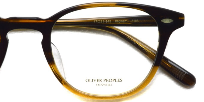 OLIVER PEOPLES / KLIGMAN / 8108 / ¥30,000 + tax