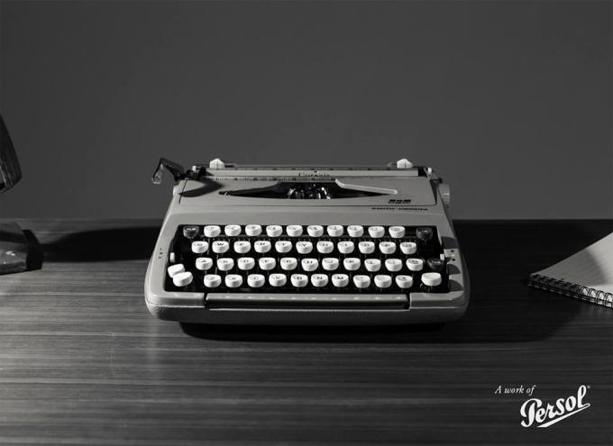 Persol typewriter edition