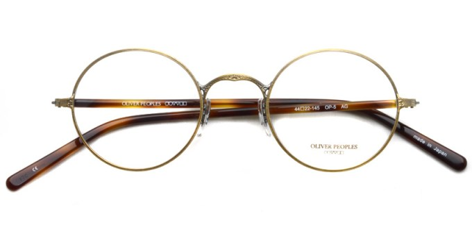 OLIVER PEOPLES / OP-5 / Antique Gold / ¥29,000 + tax