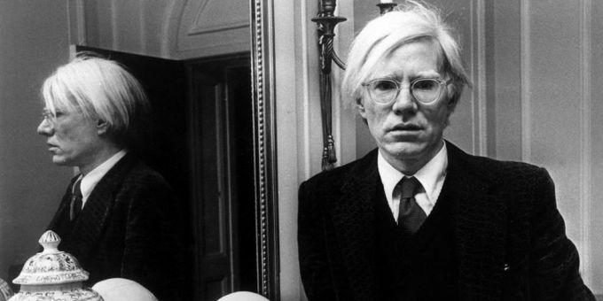 Andy Warhol wearing MOSCOT MILTZEN