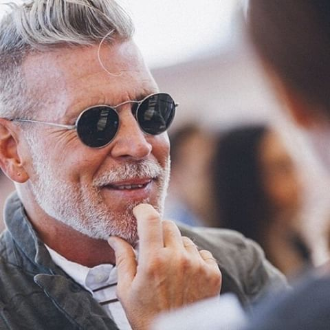 Nick Wooster wearing OLIVER PEOPLES M-4