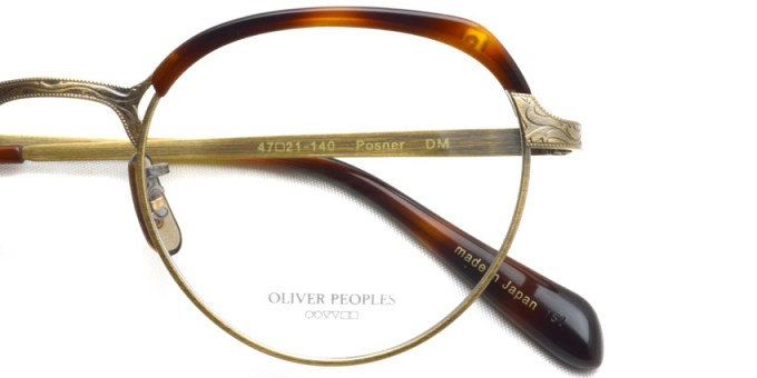 OLIVER PEOPLES / POSNER /  DM  /  ¥40,000 + tax