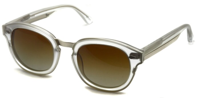 MOSCOT SUN / CONRAD / MAT/CRYSTAL/SILVER - BROWN (Polar) / ¥39,000 + tax