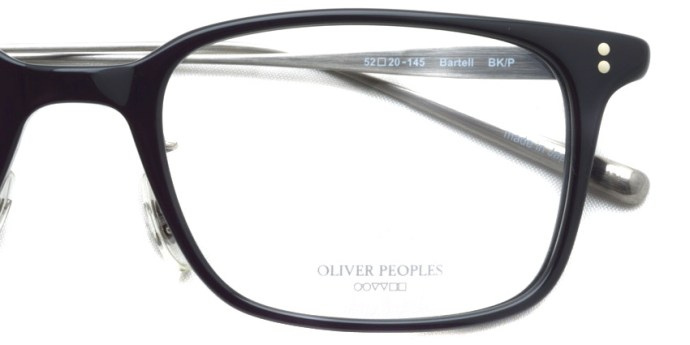 OLIVER PEOPLES / BARTELL / BK/P / ¥37,000 + tax
