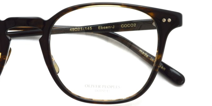 OLIVER PEOPLES / EBSEN-J / COCO2 / ¥35,000 + tax