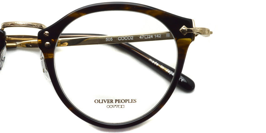 OLIVER PEOPLES /  505  /  COCO2   /  ¥31,000 + tax
