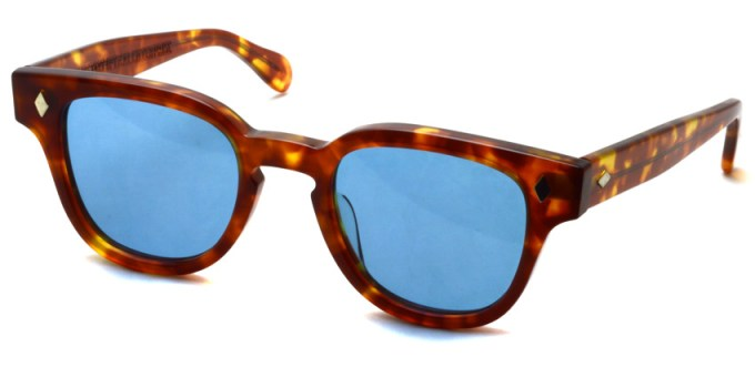 JULIUS TART OPTICAL / BRYAN / LIGHT TORTOISE - BLUE  / ¥38,000+tax