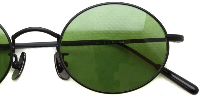 A.D.S.R. / WOLFF03(c) / MatteBlack - Green Lenses / ¥19,000 + tax