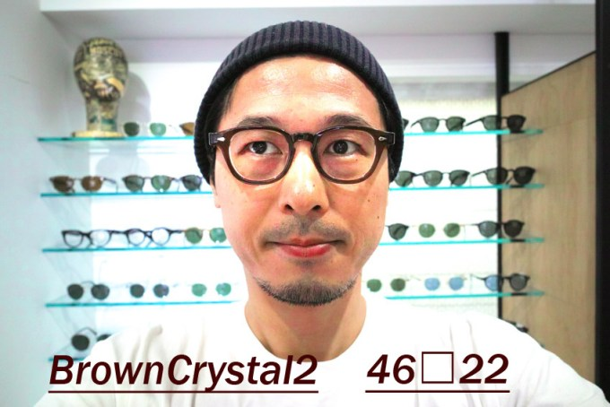 JULIUS TART OPTICAL / AR 46-22size / BrownCrystal2