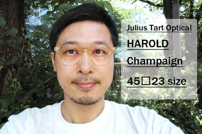 JULIUS TART OPTICAL / HAROLD / Champaign / 45□23 size