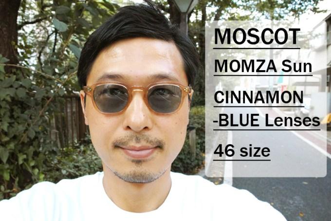 MOSCOT / MOMZA Sun / CINNAMON - BLUE / 46size / ¥34,000+tax