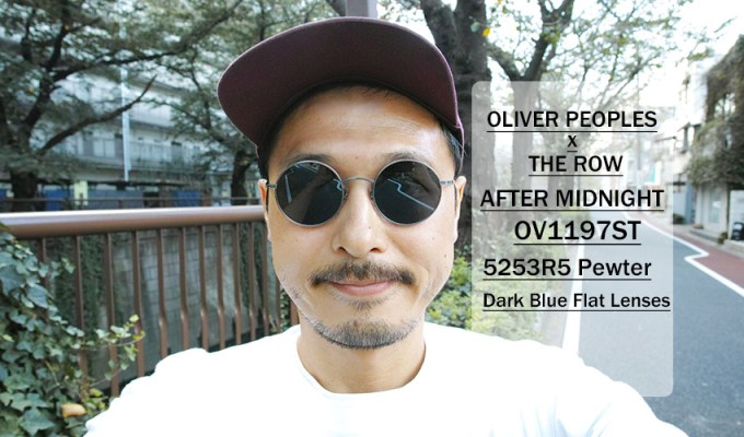 OLIVER PEOPLES THE ROW / AFTER MIDNIGHT - OV1197ST - / 5253R5 PEWTER - Dark Blue / ¥40,000 + tax