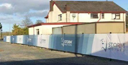 Storm Motors Hoarding Mesh Banner 2