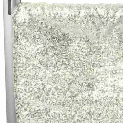 Sequin Backdrop Tall - Ivory 1