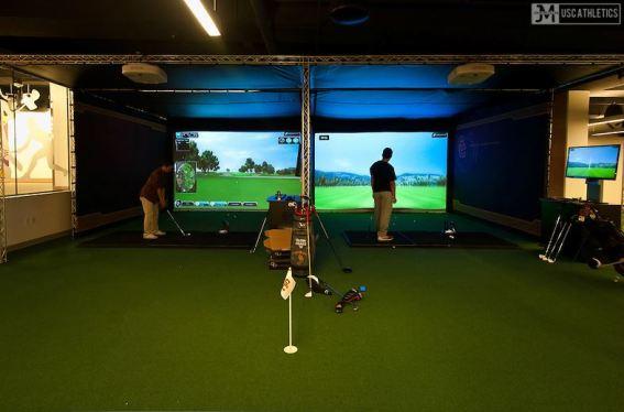 University of Southern California indoor golf room