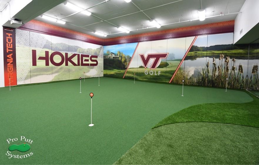 VA Tech Indoor Golf Facility