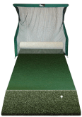 Hitting Net and Putting Surface with Range Turf