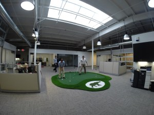 putting green in office