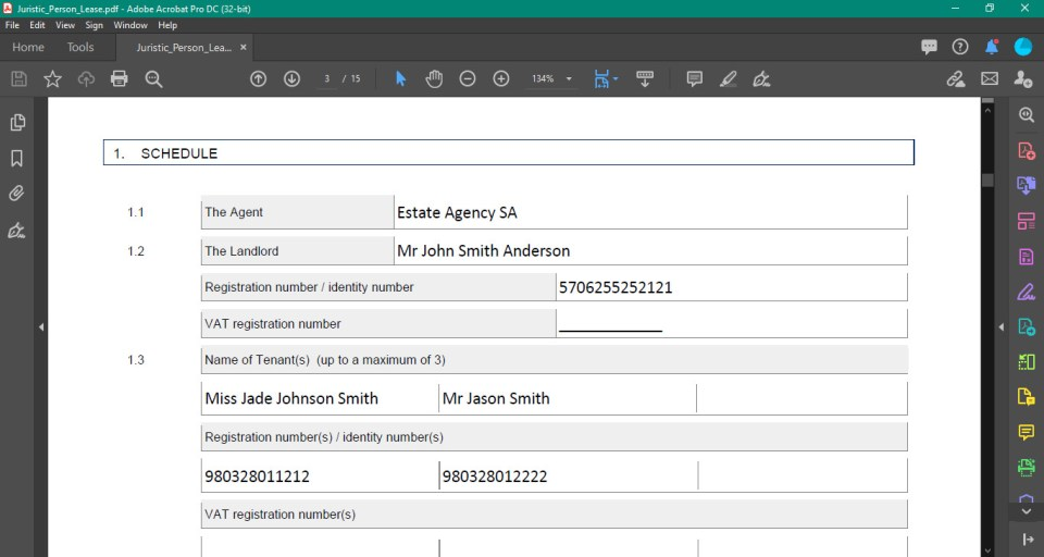 Our built-in auto-complete document and lease creator Propworx property management software