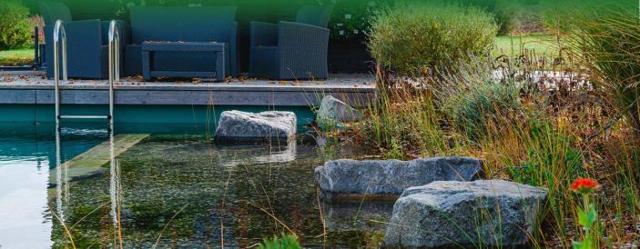 Beliebtes Element in Garten- und Parkanlagen: Wasseranlagen