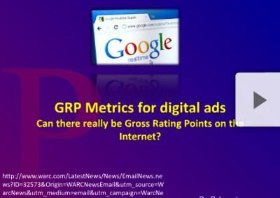 GRP Metrics for Digital Ads