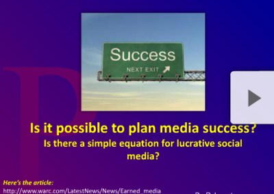 Is it Possible to Plan Media Success?